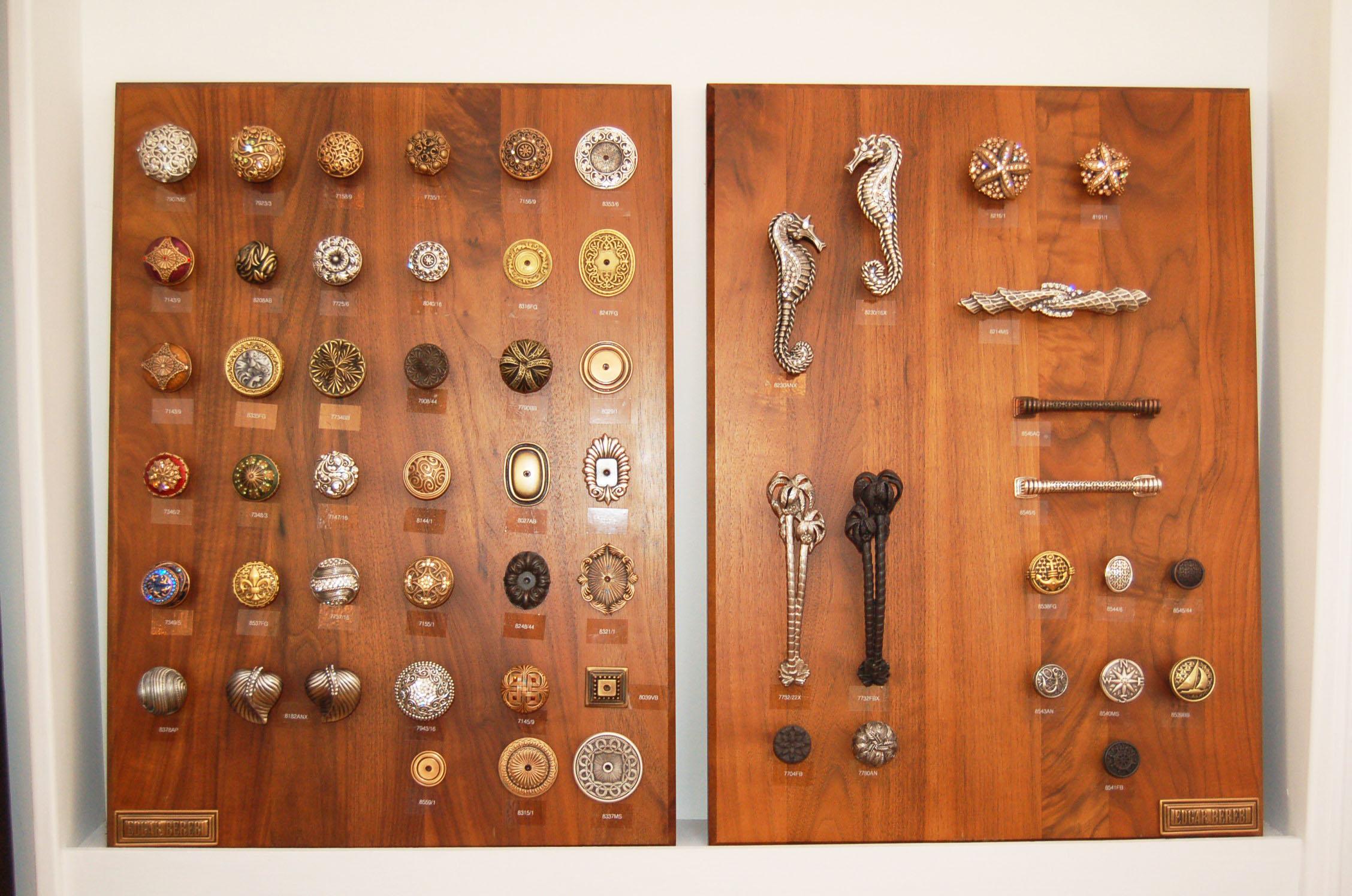 Dazzling knobs and hardware by Edgar Berebi