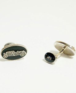 bentley cufflinks showing 1929 Birkin Blower Bentley