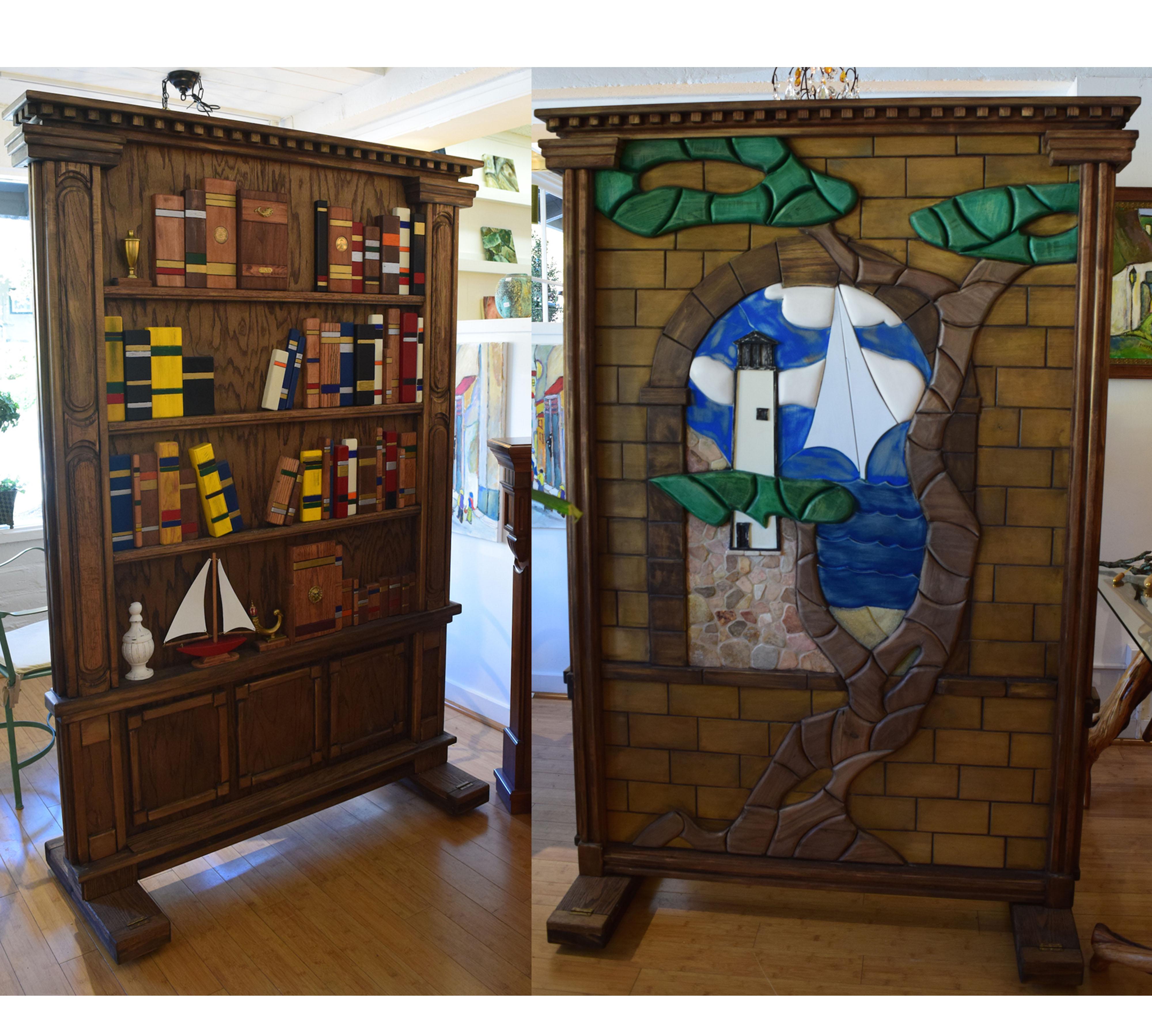 Double Sided Single Panel Room Divider Anne Thull Fine Art Designs