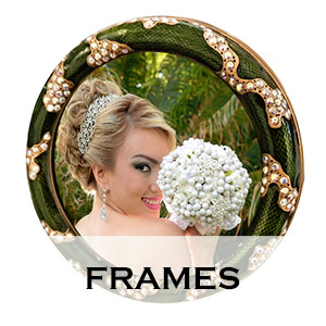 jeweled picture frames