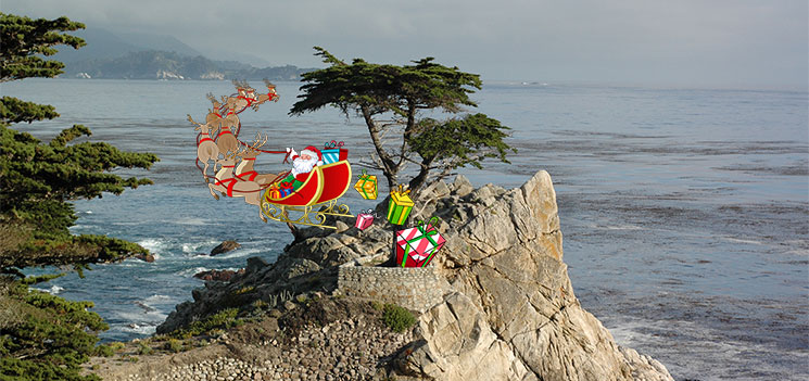 holidays at the lone cypress in Monterey